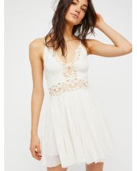 Free People | White Fp One Coast To Cove Mini Dress | Lyst