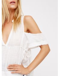 Free People | White Fp One Gauze Indus Top | Lyst