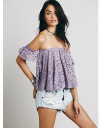 Free People | Purple Free To Be Top | Lyst