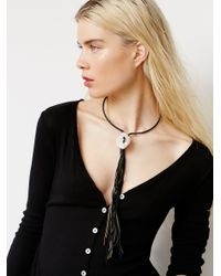 Free People | Black Geode Canyon Drop Choker | Lyst