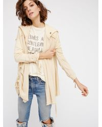 Free People | Natural Get Your Gauze Cardi | Lyst