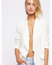 Free People - Metallic Golden Charms Necklace - Lyst