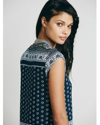 Free People | Blue Novella Royale Womens Goldie Dress | Lyst