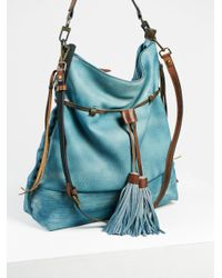 Free People | Blue Gramercy Washed Hobo | Lyst