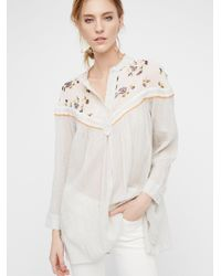 Free People   Natural Hearts And Colors Top   Lyst