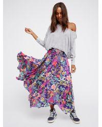 Free People | Purple Hello Sunshine Skirt | Lyst