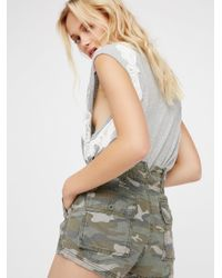 Free People | Multicolor Hi Waisted Military Short | Lyst