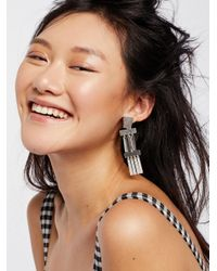 Free People | Metallic Ibiza Plate Earrings | Lyst