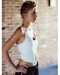 Free People - White Indigo Crop Cami - Lyst