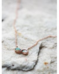 Free People | Pink Infinite Possibility Opal Necklace | Lyst
