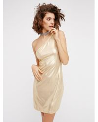 Free People | Metallic Kate Dress | Lyst