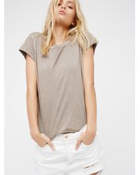 Free People | Gray We The Free Kelly Tee | Lyst