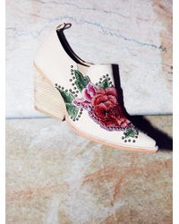 Free People | Natural Knock Out Ankle Boot | Lyst