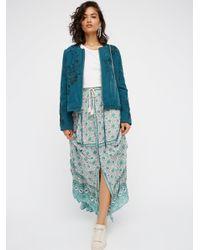 Free People | Blue Kombi Buttondown Maxi Skirt | Lyst
