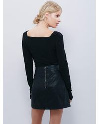 Free People - Black Lala Layering Top - Lyst