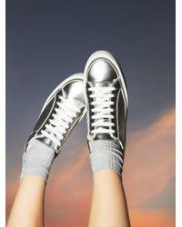 Free People | Metallic Letterman Sneaker | Lyst