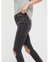 Free People | Black Levi's 721 High Rise Skinny Jeans | Lyst