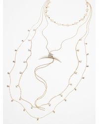 Free People | Metallic Lex Horn Layered Necklace | Lyst