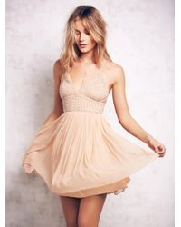 Free People | Natural Like A Diamond Chiffon Dress | Lyst