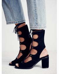 Free People | Black Jeffrey Campbell + Womens Lola Lace Up Heel | Lyst