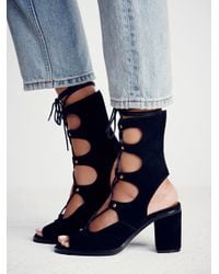 Free People - Black Jeffrey Campbell + Womens Lola Lace Up Heel - Lyst