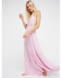 Free People   Pink Look Into The Sun Maxi   Lyst