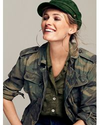 Free People | Multicolor Lou Lou Military Buttondown | Lyst