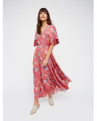 Free People | Multicolor Lovebird Half Moon Gown | Lyst
