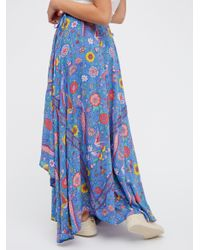 Free People | Blue Lovebird Half Moon Maxi Skirt | Lyst