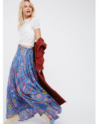 Free People | Blue Lovebird Half Moon Maxi Skirt | Lyst