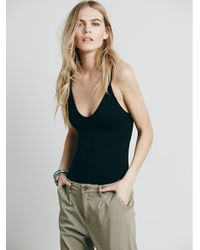 Free People - Black Low Scoop Neck Cami - Lyst