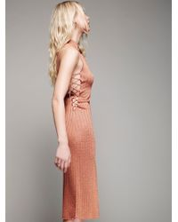 Free People | Pink Luca Midi Dress | Lyst