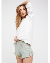 Free People   White Marcelle Short   Lyst