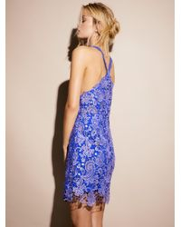 Free People | Blue Margot Lace Dress | Lyst