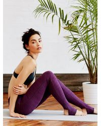 Free People | Purple Heathered Namaste Legging | Lyst
