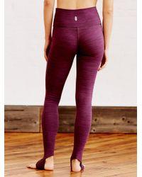 Free People | Purple Heathered Namaste Legging | Lyst