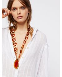 Free People | Multicolor Olympus Acrylic Mixed Agate Pendant | Lyst