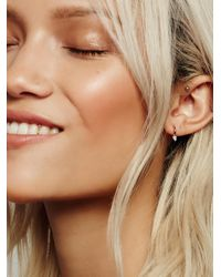 Free People - Pink Opal Spike Clicker Hoop - Lyst