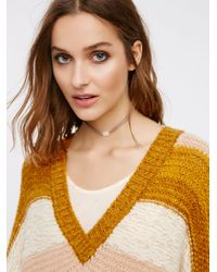 Free People | Metallic Orso Raw Stone Suede Choker | Lyst