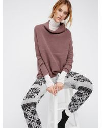 Free People | Brown Ottoman Slouchy Tunic Jumper | Lyst