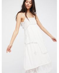 c2983739f8a18 Free People Peaches Slip Dress in White - Lyst