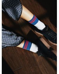 Free People | White Perspective Crew Sock | Lyst