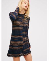 Free People | Blue Rave On Sweater Mini | Lyst