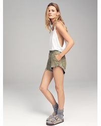 Free People | Multicolor Raw & Patched Standoff Short | Lyst