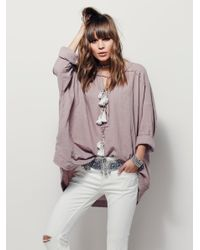 Free People | Gray Riptide Tunic | Lyst