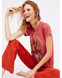 Free People | Red Rolling Stones Dragon Tee | Lyst