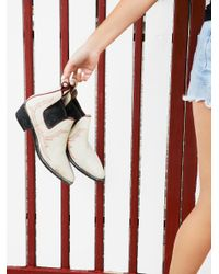 Free People   White Sanded Ridge Ankle Boot   Lyst