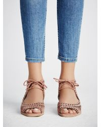 Free People Blue Serena Mini Wedge