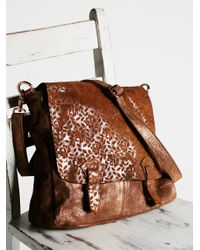 Free People | Brown Shine On Messenger | Lyst