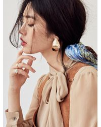 Free People - Metallic Sleek Knot Metal Earring - Lyst
